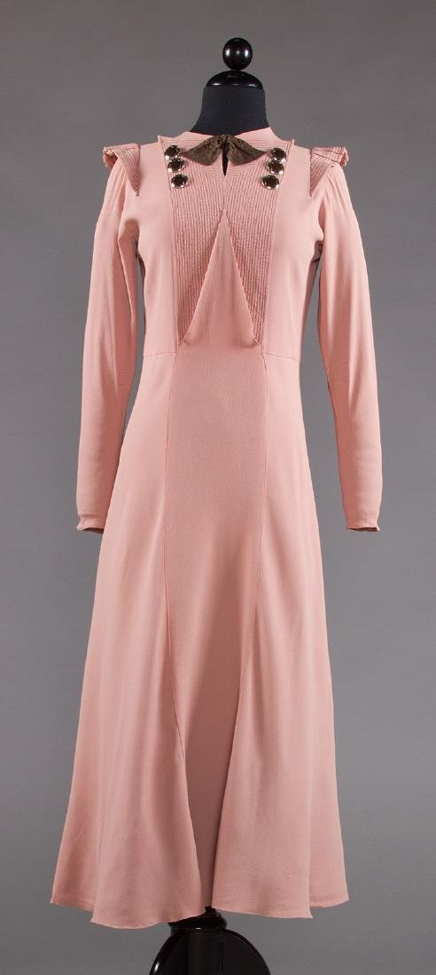 ORCHID SILK AFTERNOON DRESS, 1930s