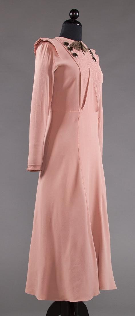 ORCHID SILK AFTERNOON DRESS, 1930s - 2