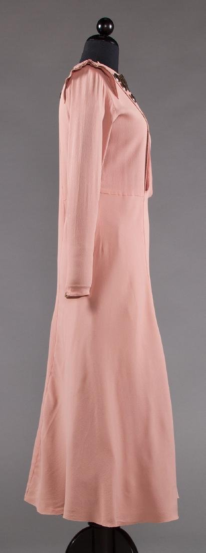 ORCHID SILK AFTERNOON DRESS, 1930s - 3