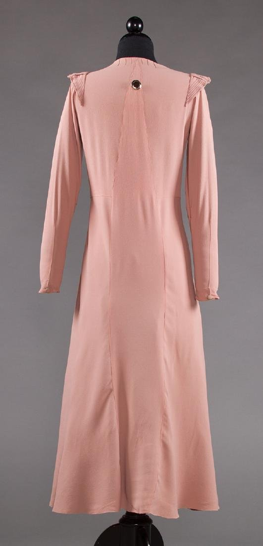 ORCHID SILK AFTERNOON DRESS, 1930s - 4