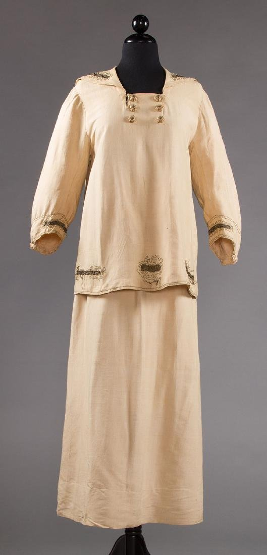 2 SUMMER DAY DRESSES, 1916-1920 - 4