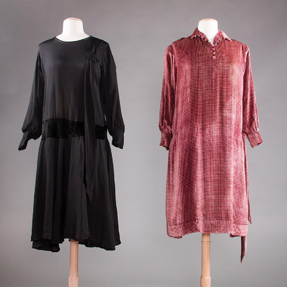 1 AFTERNOON & 1 DINNER DRESS, 1920s
