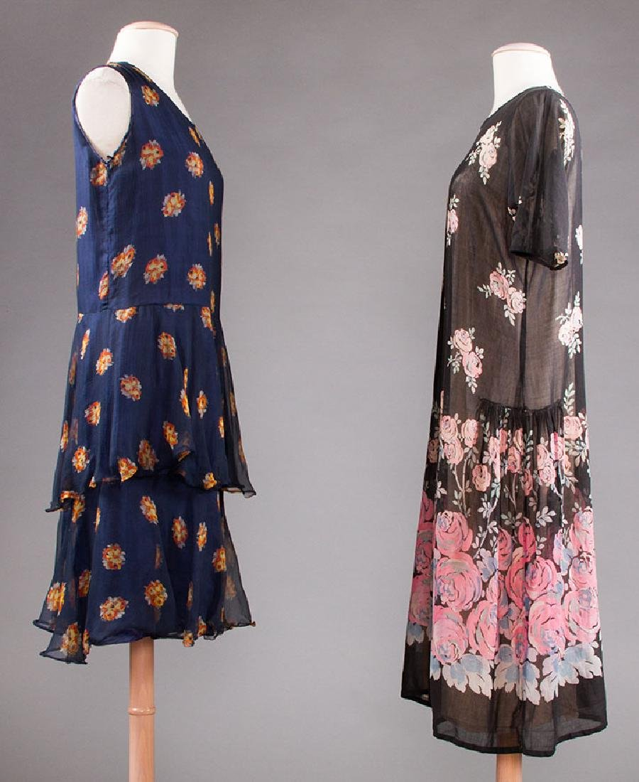 2 PRINTED DRESSES: 1 DAY & 1 PARTY, 1920s - 2
