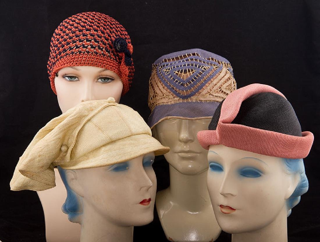 4 DAY HATS, 1920-1930s