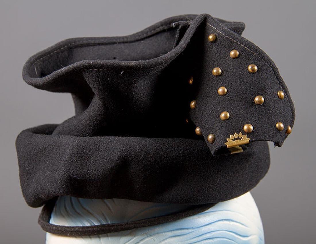 5 LADIES' BLACK HATS, LATE 1930s - 6