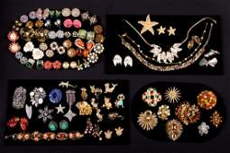GROUP COSTUME JEWELRY 19301960s