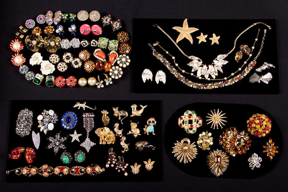 GROUP COSTUME JEWELRY, 1930-1960s