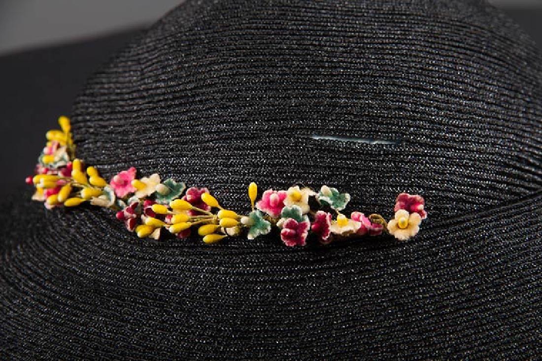 4 PANCAKE-STYLE HATS, 1930s - 4