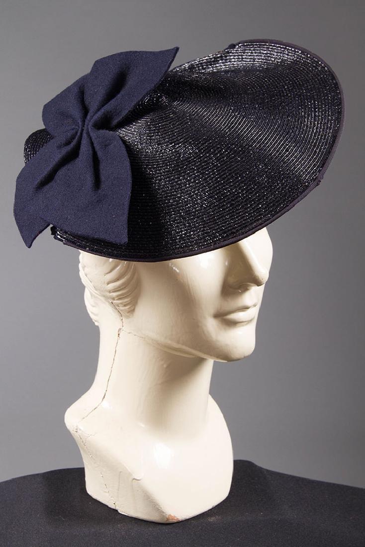 4 PANCAKE-STYLE HATS, 1930s - 5