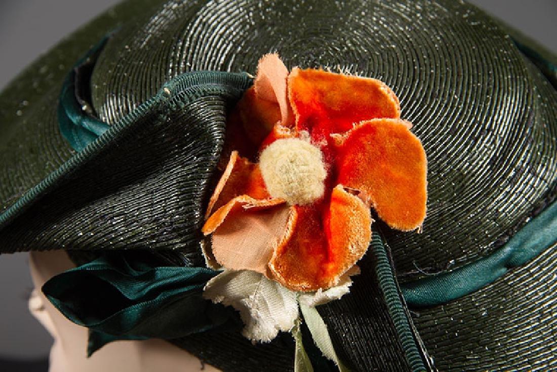 4 PANCAKE-STYLE HATS, 1930s - 6