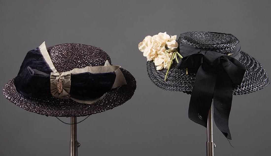 4 PANCAKE-STYLE HATS, 1930s - 7