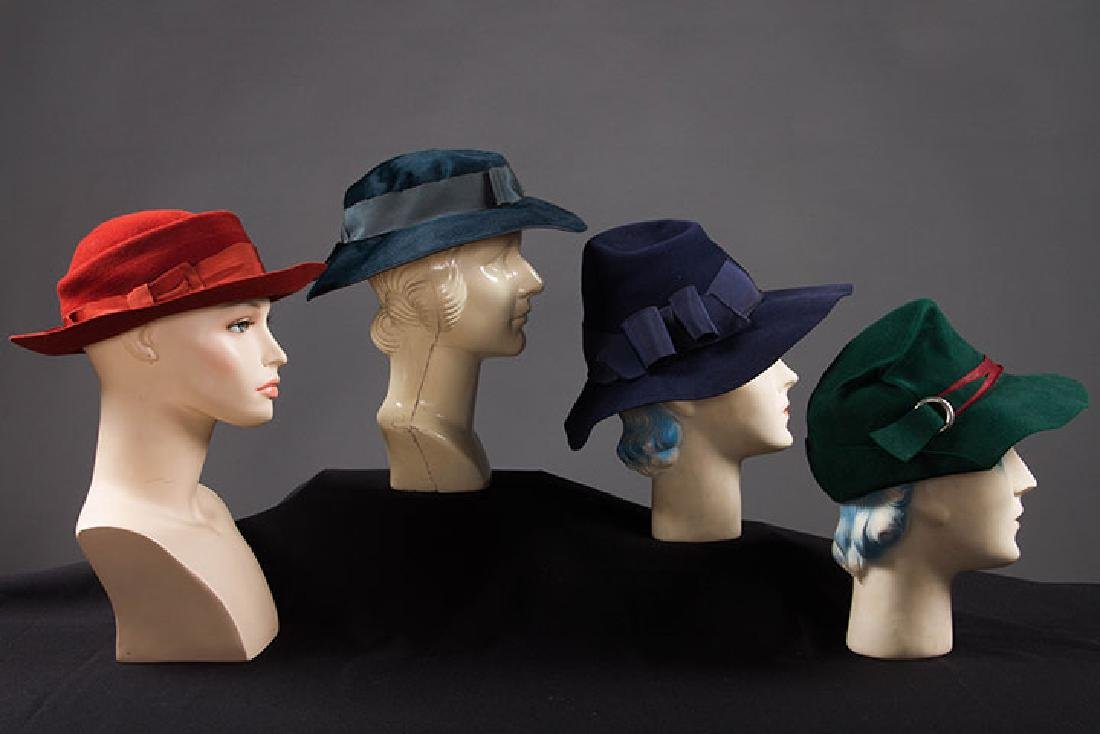 4 DAY HATS, 1940s - 2