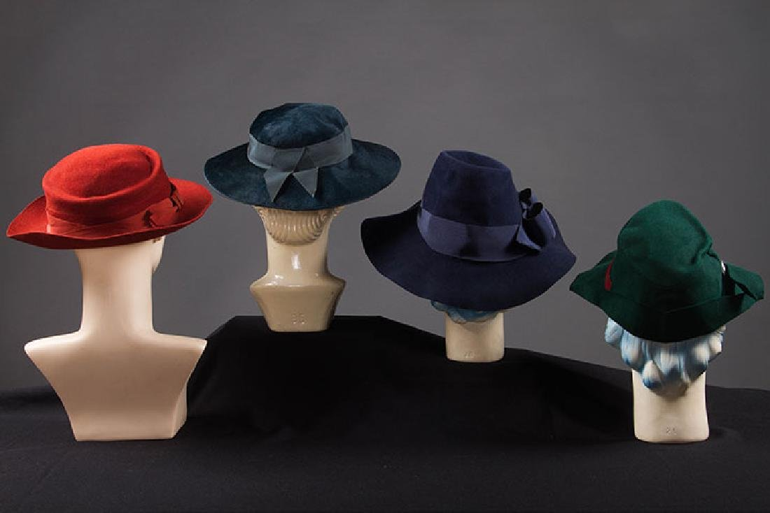 4 DAY HATS, 1940s - 3