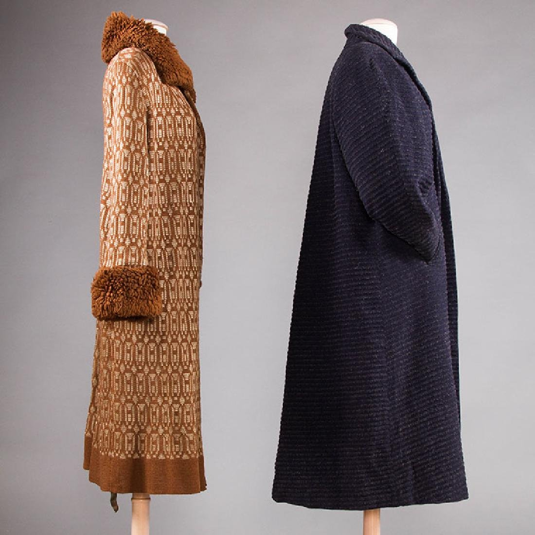 2 WOOL DAY COATS, 1920s & 1930s - 2