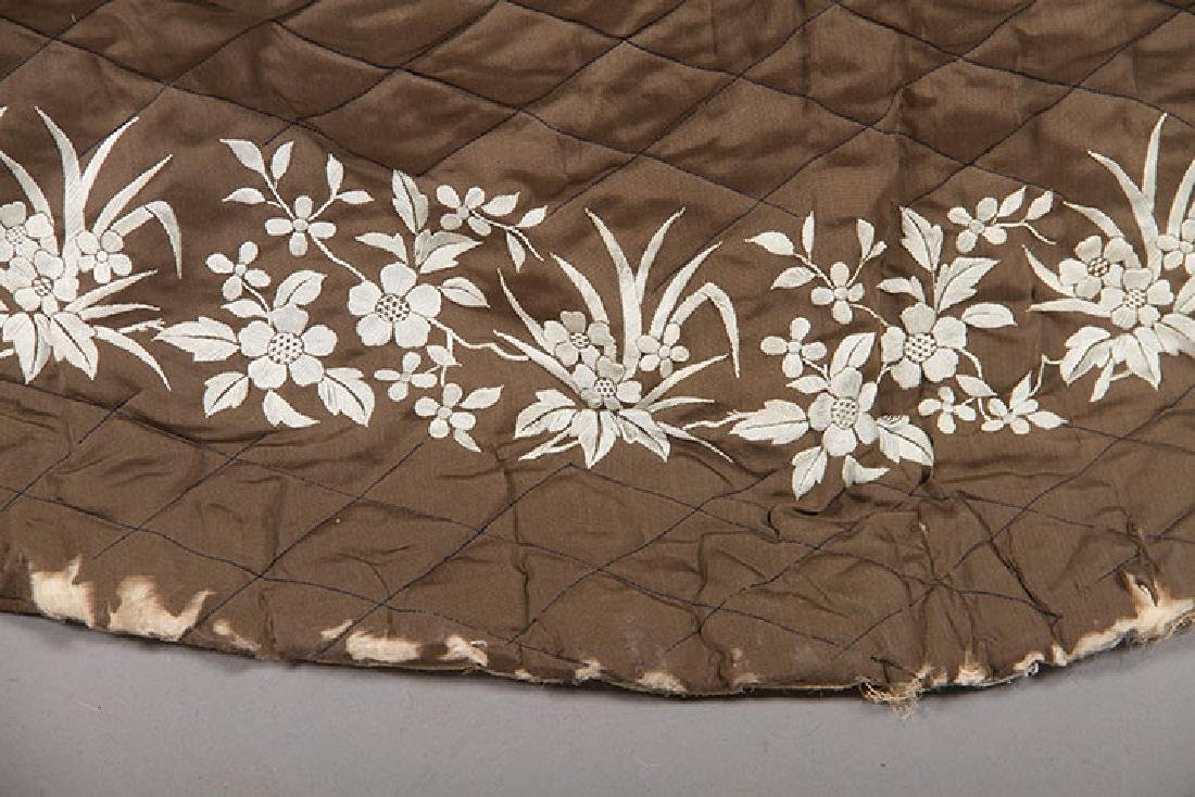 2 QUILTED LADIES' ROBES, 1880S - 5