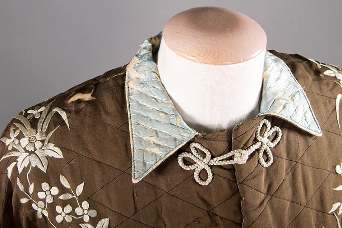 2 QUILTED LADIES' ROBES, 1880S - 6