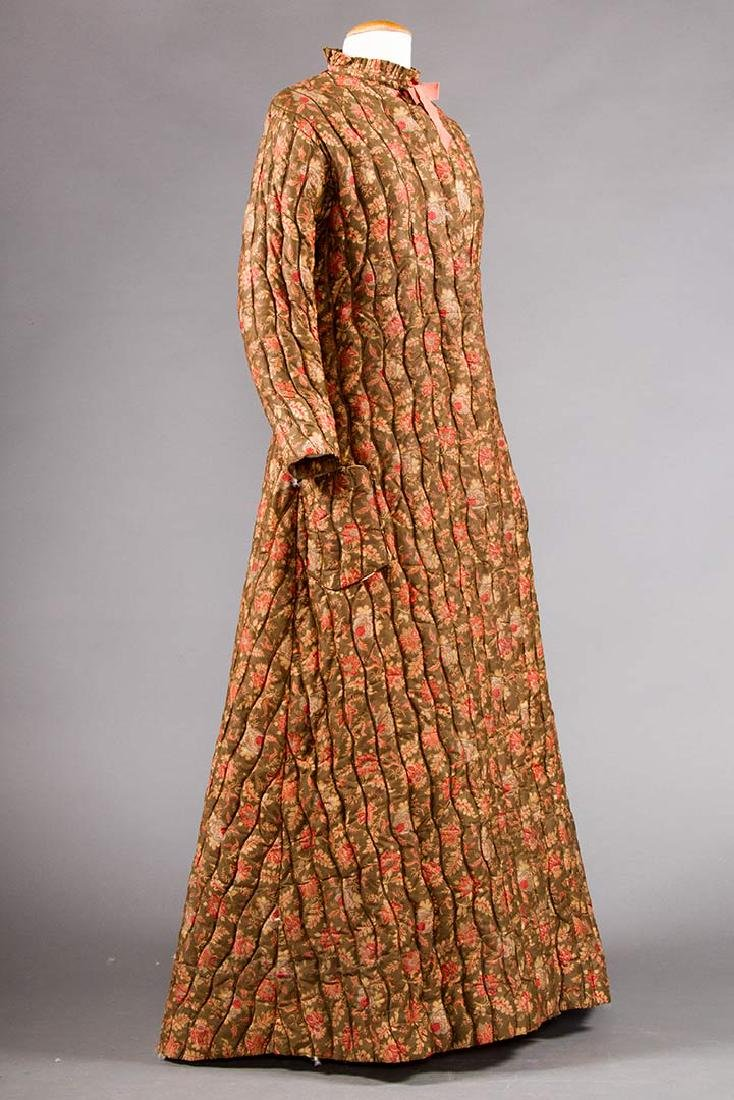 2 QUILTED LADIES' ROBES, 1880S - 7