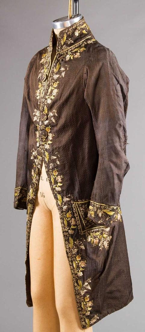 MAN'S EMBROIDERED FROCK COAT, c. 1780 - 2