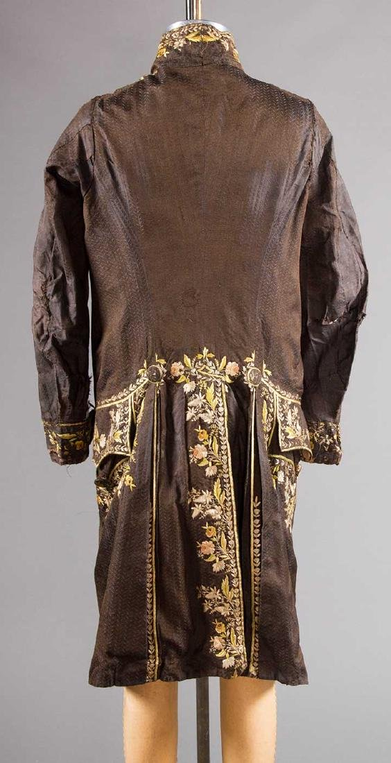MAN'S EMBROIDERED FROCK COAT, c. 1780 - 3