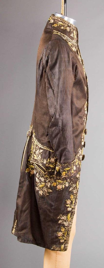 MAN'S EMBROIDERED FROCK COAT, c. 1780 - 4
