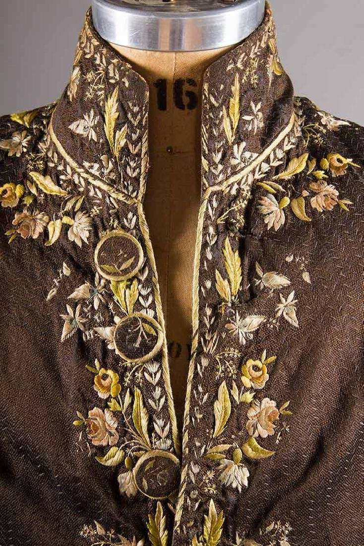 MAN'S EMBROIDERED FROCK COAT, c. 1780 - 5