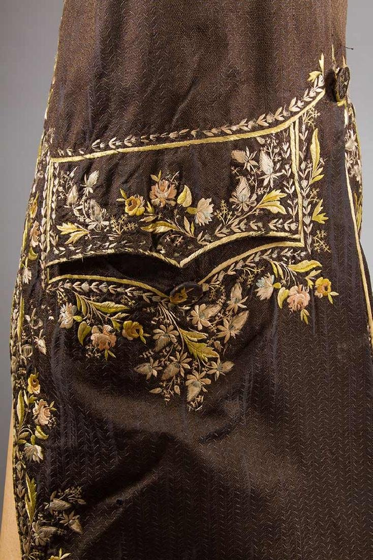 MAN'S EMBROIDERED FROCK COAT, c. 1780 - 6