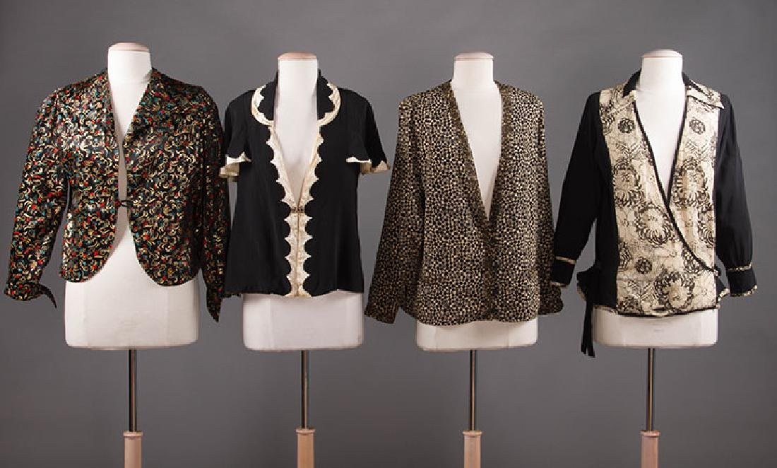 4 BLACK & WHITE JACKETS, 1920-1940