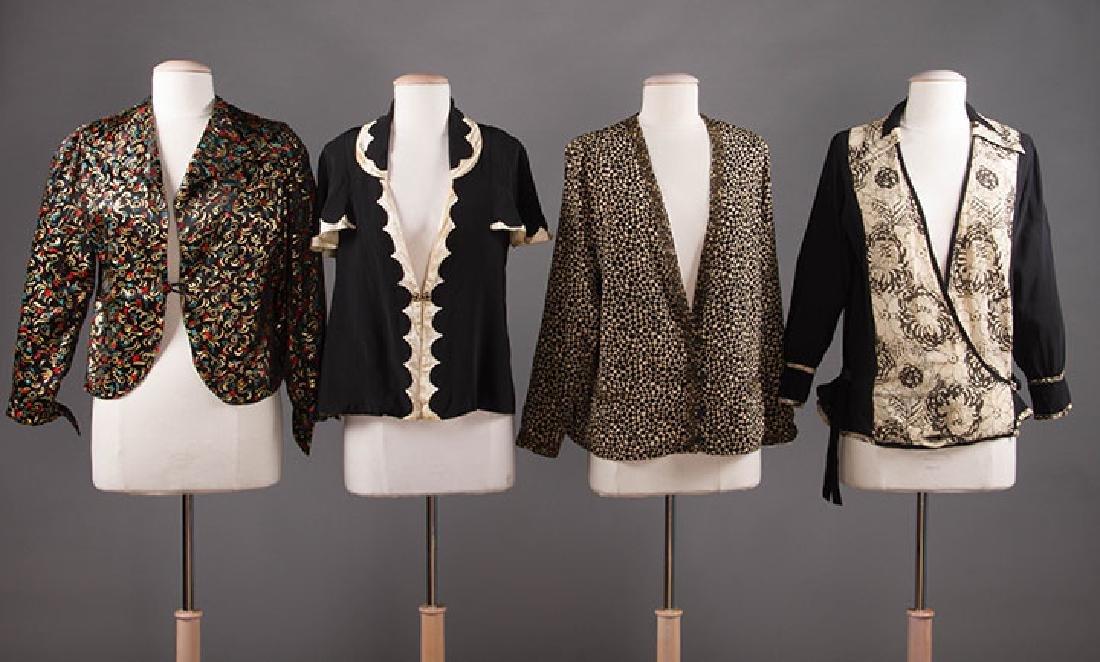 4 BLACK & WHITE JACKETS, 1920-1940