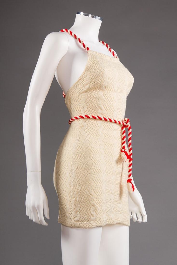 3 LADIES' WOOL KNIT SWIM SUITS, 1930s - 4