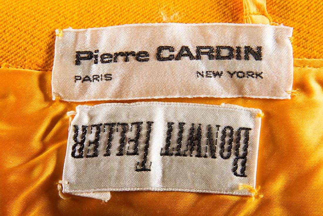 PIERRE CARDIN CHROME YELLOW SKIRT, 1960s - 10