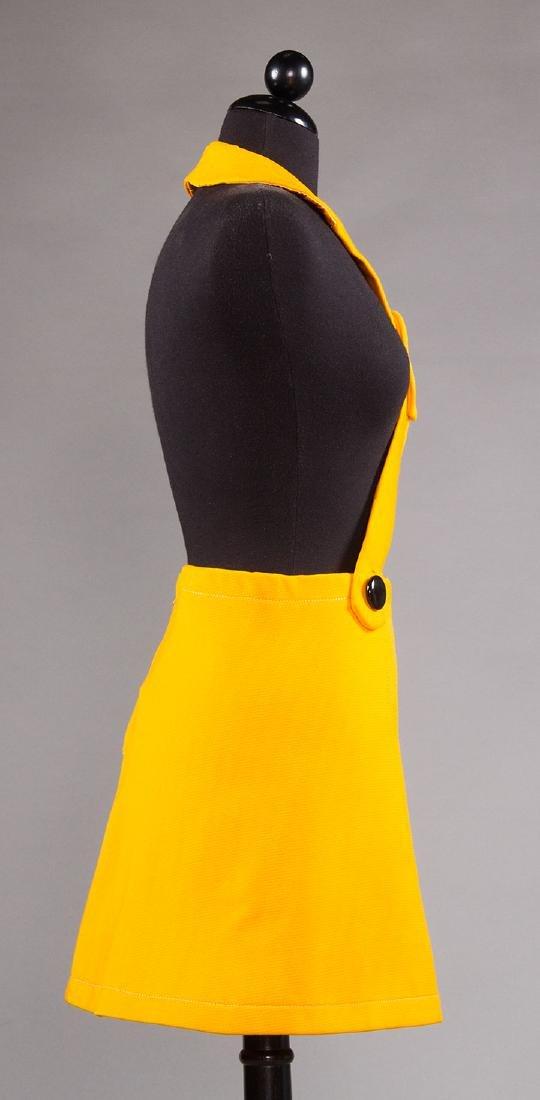 PIERRE CARDIN CHROME YELLOW SKIRT, 1960s - 4