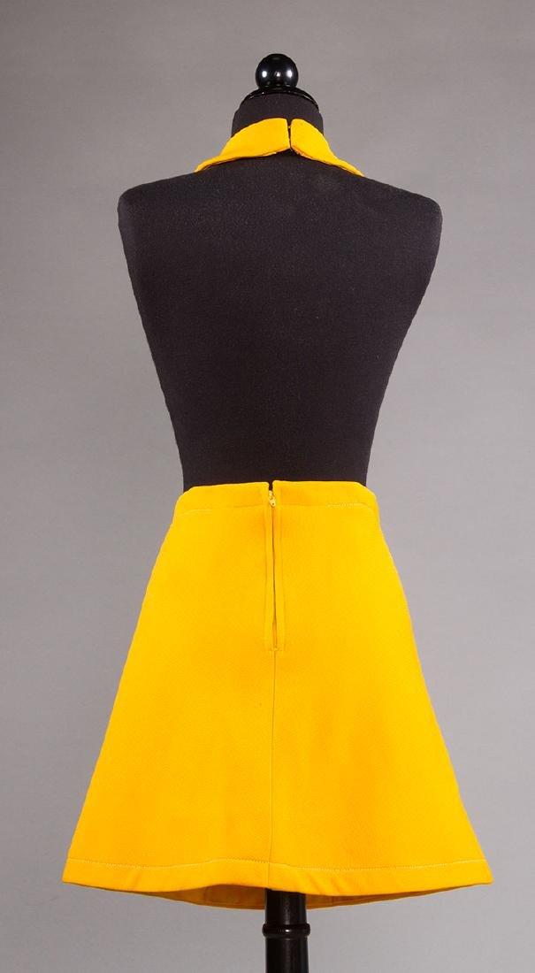 PIERRE CARDIN CHROME YELLOW SKIRT, 1960s - 5
