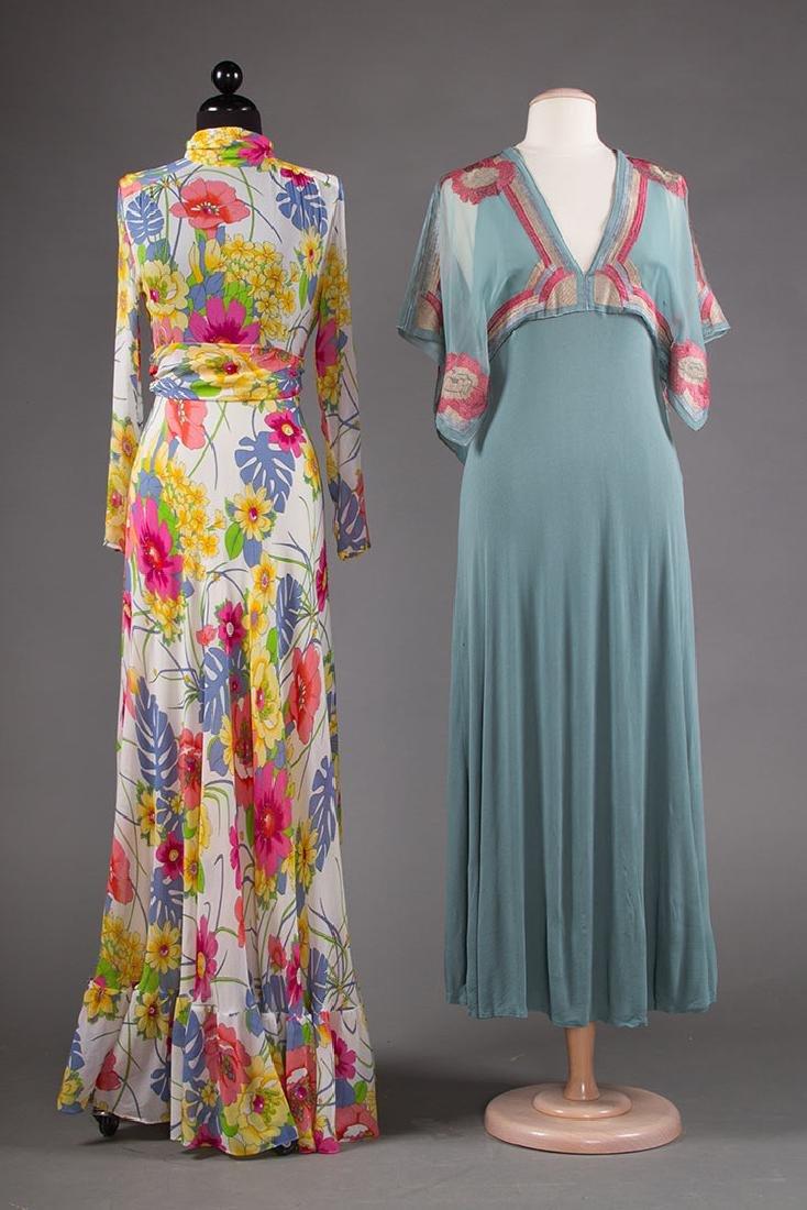 JANICE WAINRIGHT MAXI-DRESS, ENGLAND, 1970s