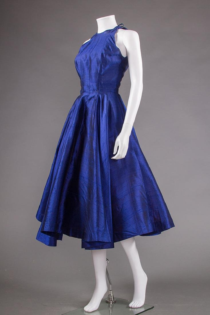 SAPPHIRE PARTY DRESS, 1950s & BLACK SKIRT, 1940s - 4