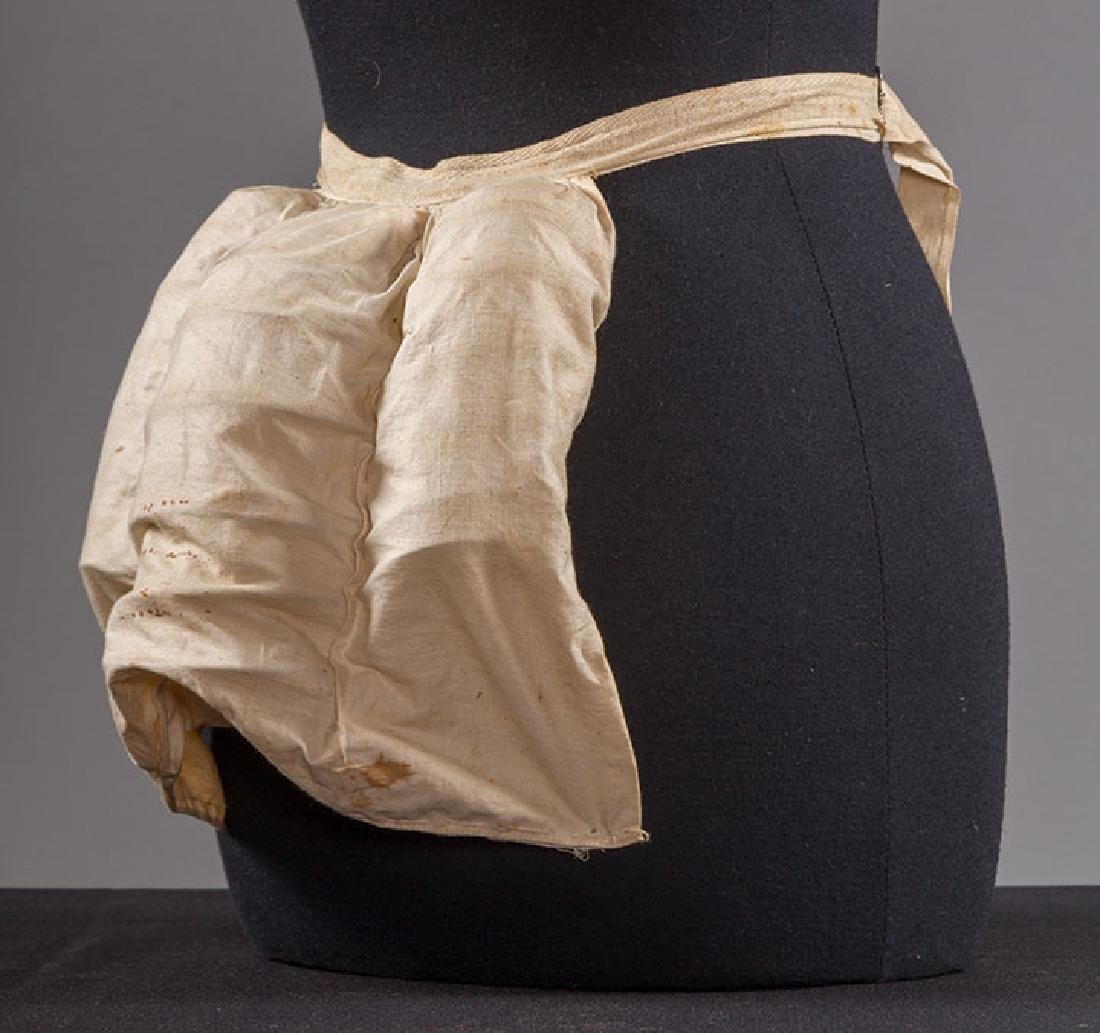 BONED CORSET & WIRE BUSTLE, 19TH C - 4
