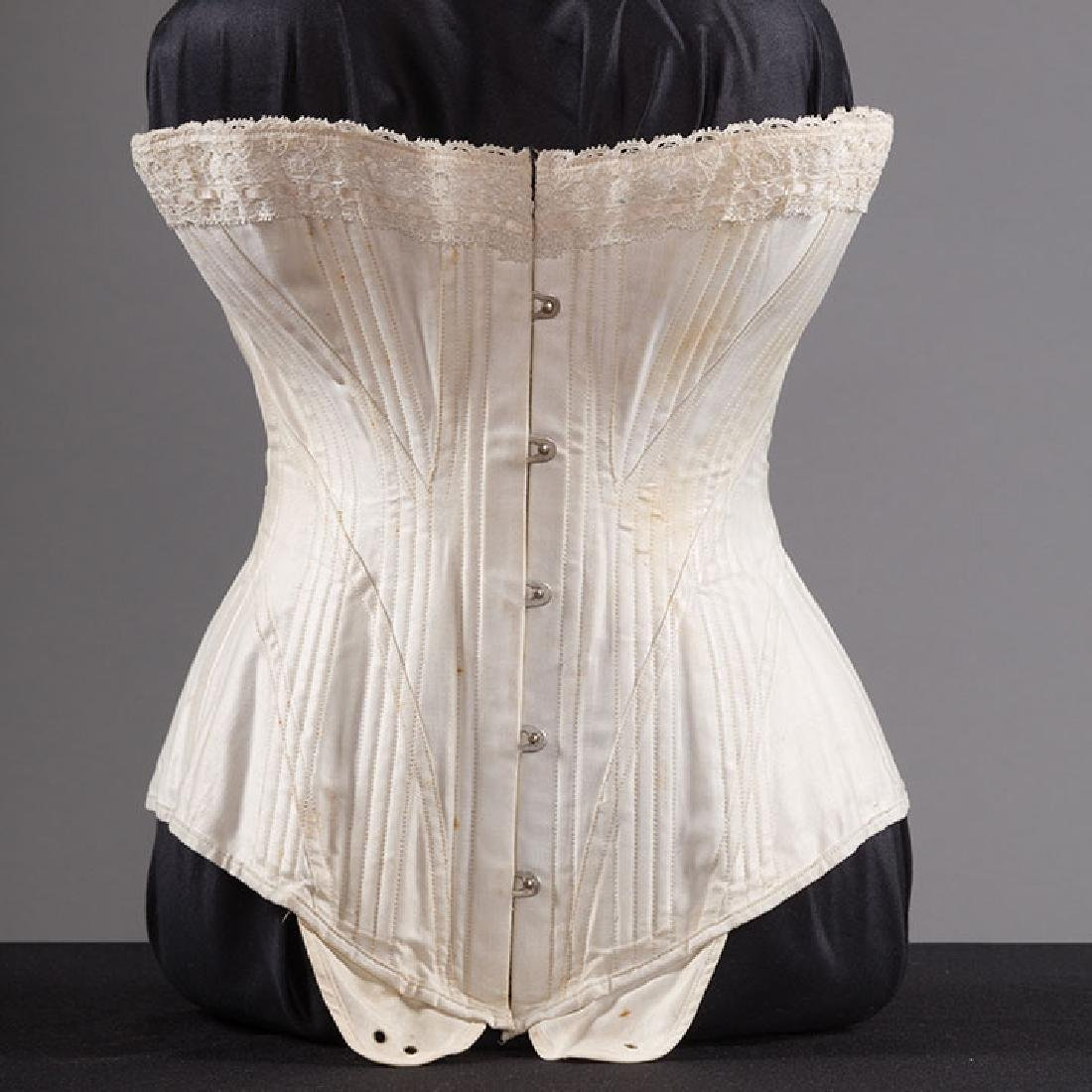 BONED CORSET & WIRE BUSTLE, 19TH C - 5