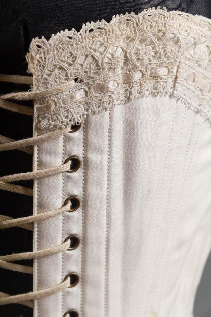 BONED CORSET & WIRE BUSTLE, 19TH C - 6