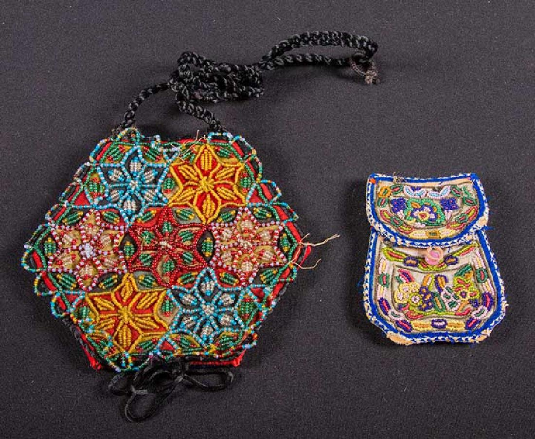 4 NATIVE AMERICAN BEADED ACCESSORIES, MID 19TH C - 6