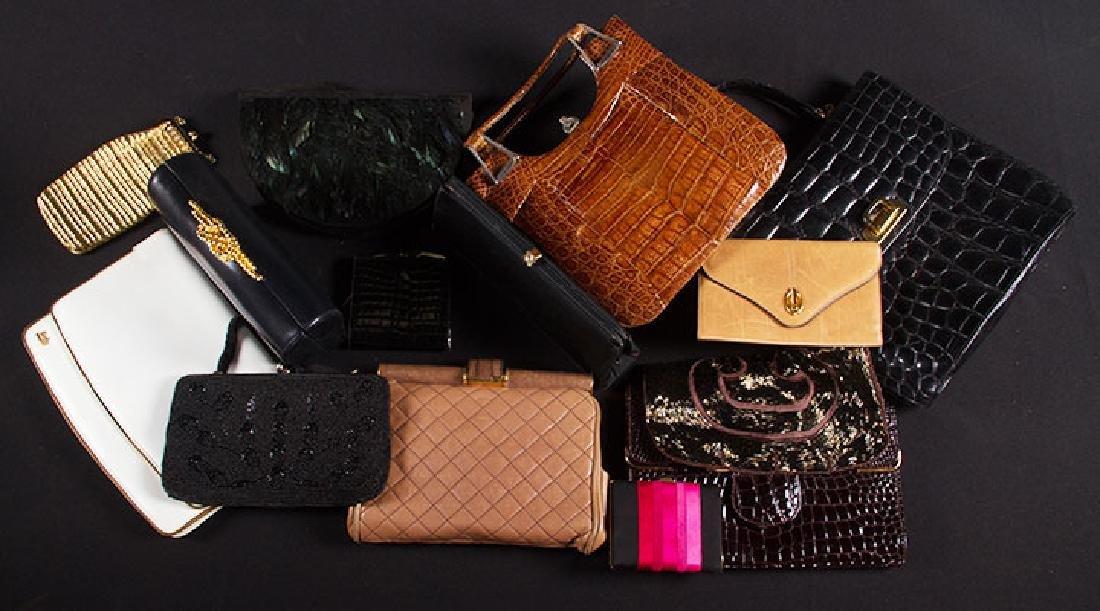 4 DESIGNOR HAND BAGS, 1965-1980s - 8