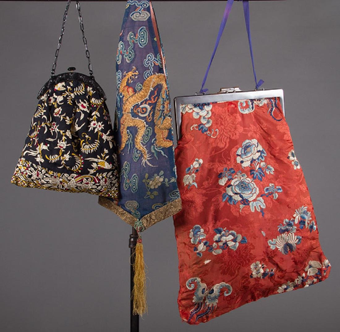 3 EMBROIDERED LADIES BAGS, CHINA