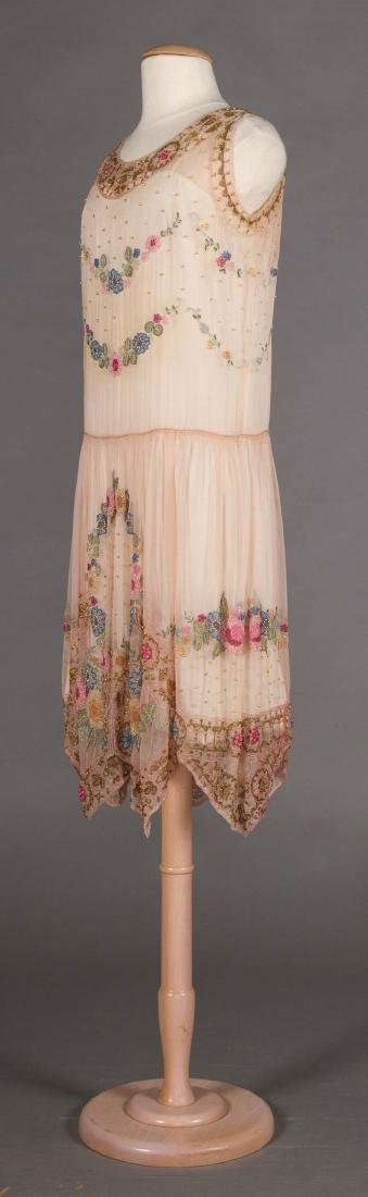 BEADED PALE PINK PARTY DRESS, 1920s - 2