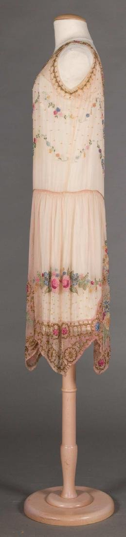 BEADED PALE PINK PARTY DRESS, 1920s - 3