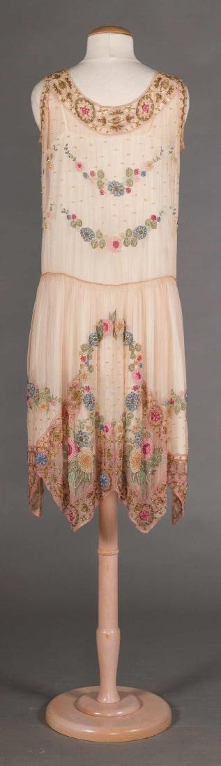 BEADED PALE PINK PARTY DRESS, 1920s - 4