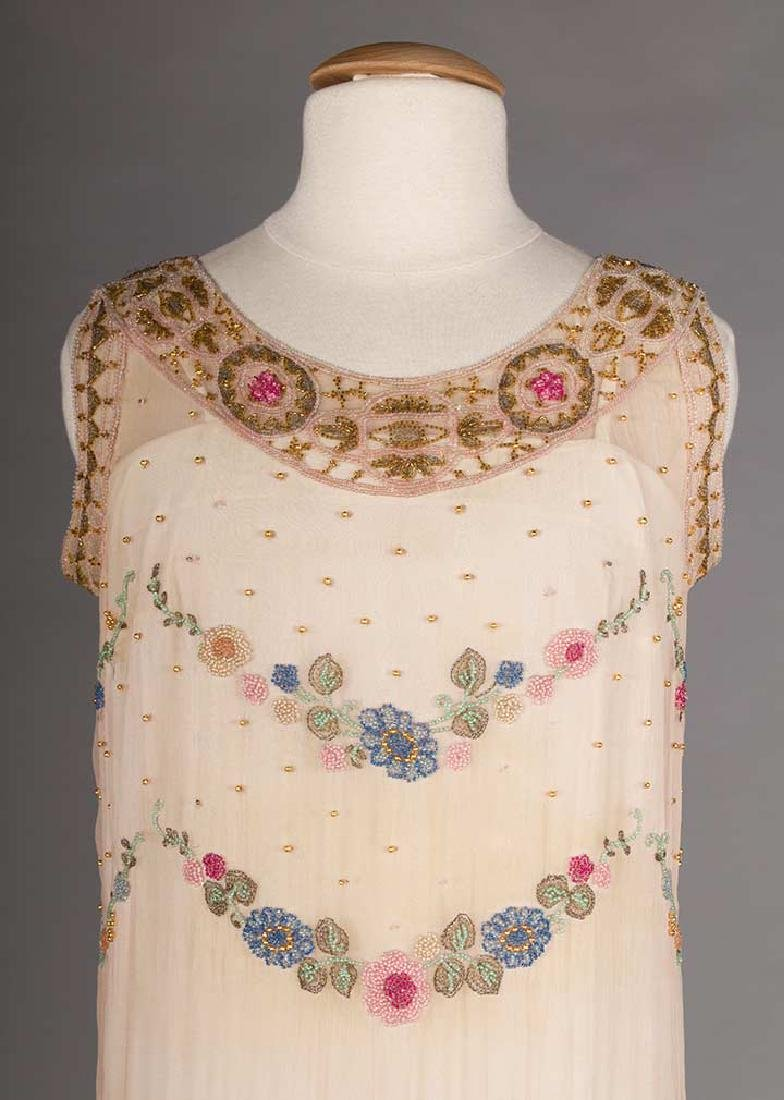 BEADED PALE PINK PARTY DRESS, 1920s - 5