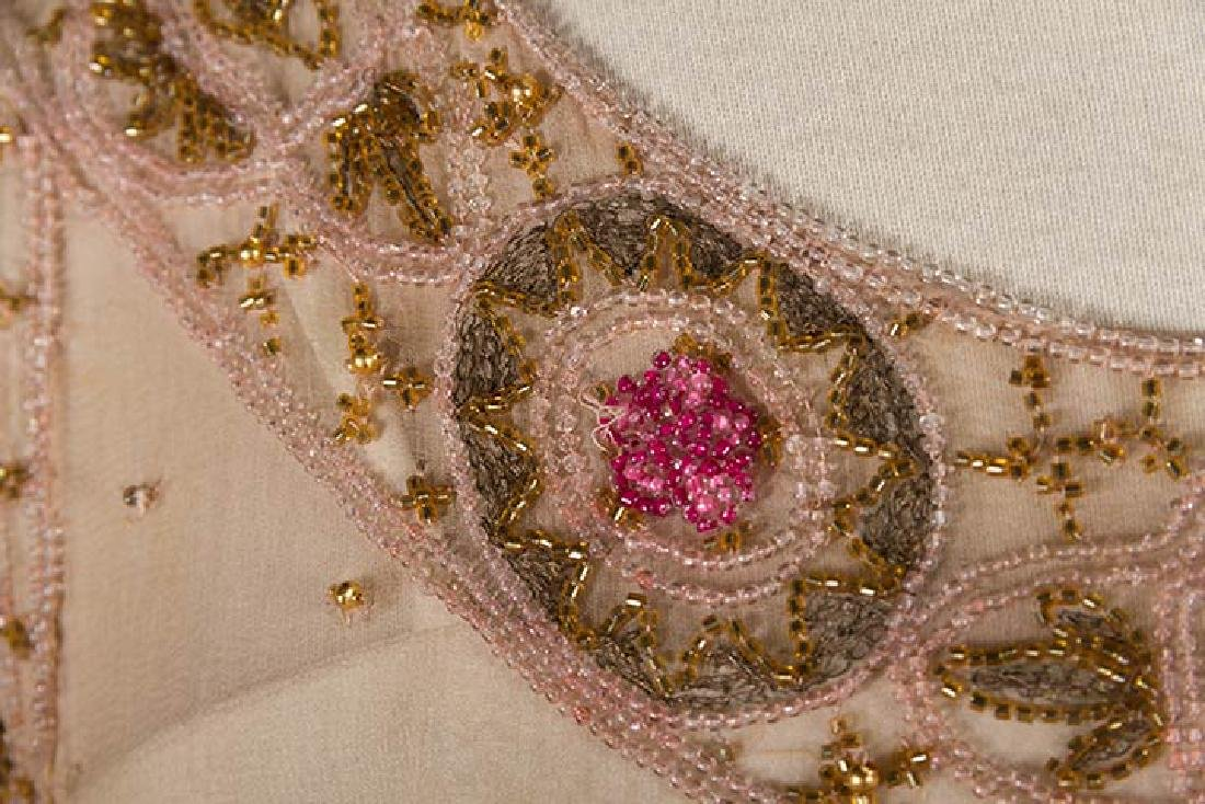 BEADED PALE PINK PARTY DRESS, 1920s - 8