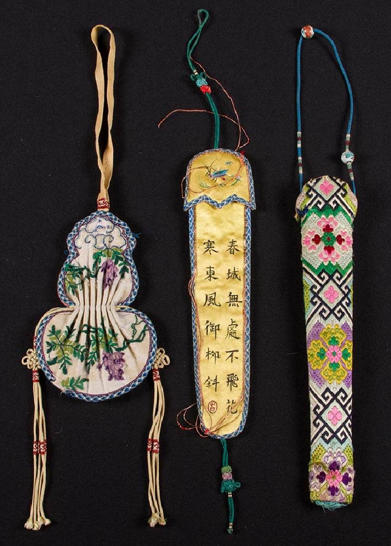 7 EMBROIDERED BAGS & CASES, CHINA - 2