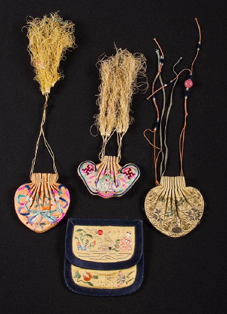 7 EMBROIDERED BAGS & CASES, CHINA - 4