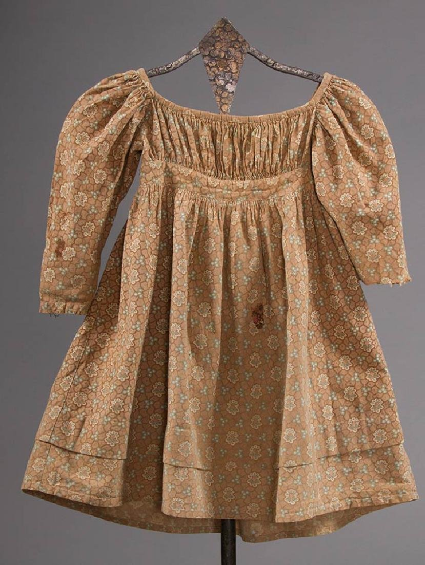 3 TODLERS' CALICO DRESSES, 1820s & 1860s - 5