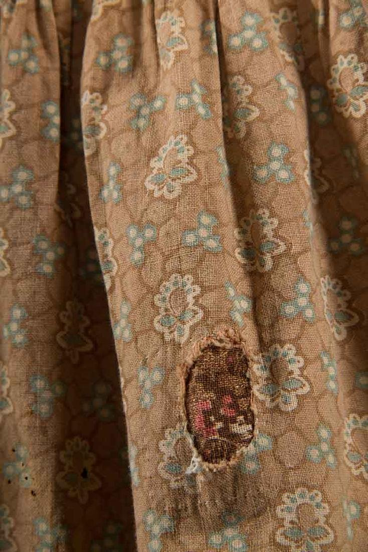3 TODLERS' CALICO DRESSES, 1820s & 1860s - 6
