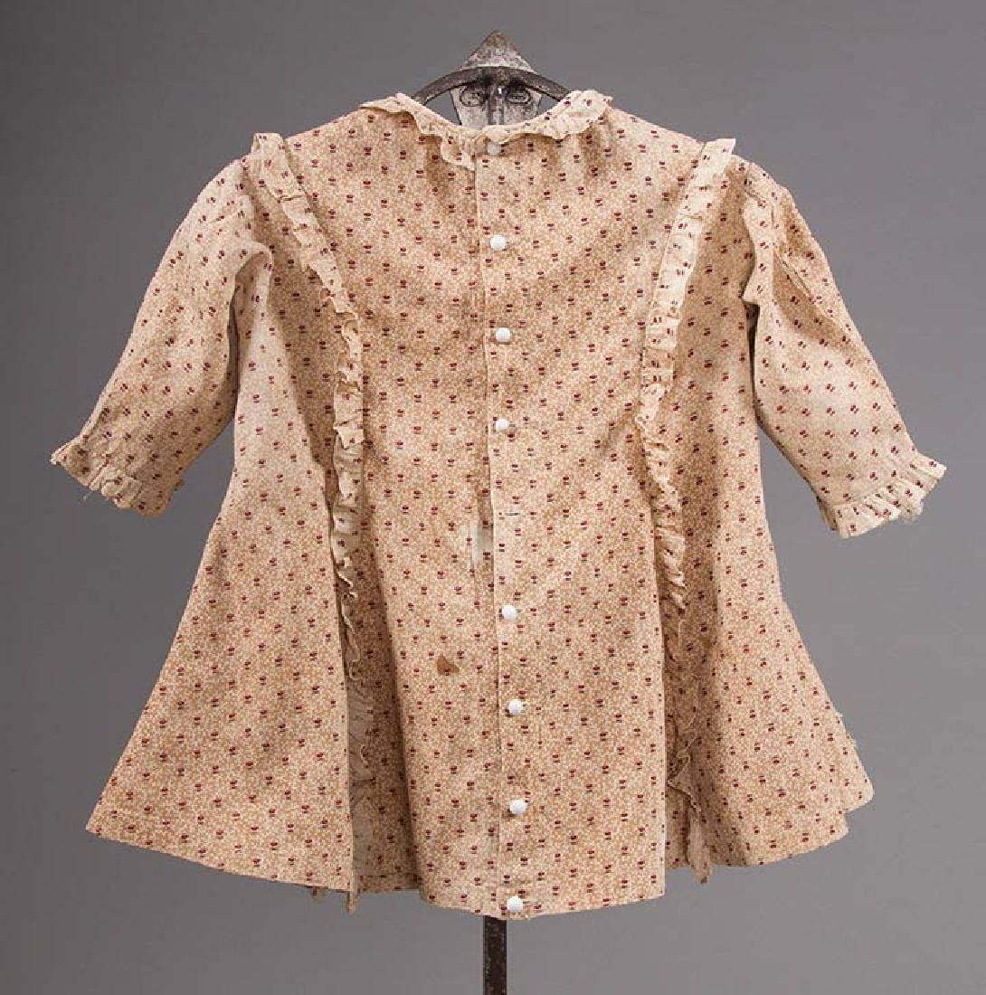 3 TODLERS' CALICO DRESSES, 1820s & 1860s - 7
